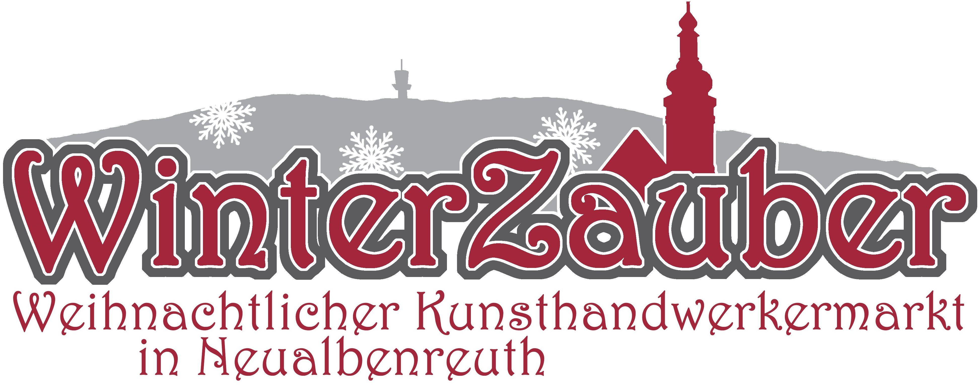 Winterzauber-Logo rot mit Text
