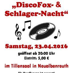 DiscoFox Schlager-Nacht - Plakat (A4)-thumbnail
