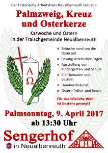 Palmzweig, Kreuz und Osterkerze @ Sengerhof | Neualbenreuth | Bayern | Deutschland