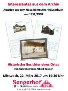 Interessantes aus dem Archiv @ Sengerhof | Neualbenreuth | Bayern | Deutschland