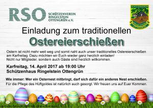 traditionelles Ostereierschießen @ Schützenhaus Ringelstein Ottengrün | Neualbenreuth | Bayern | Deutschland