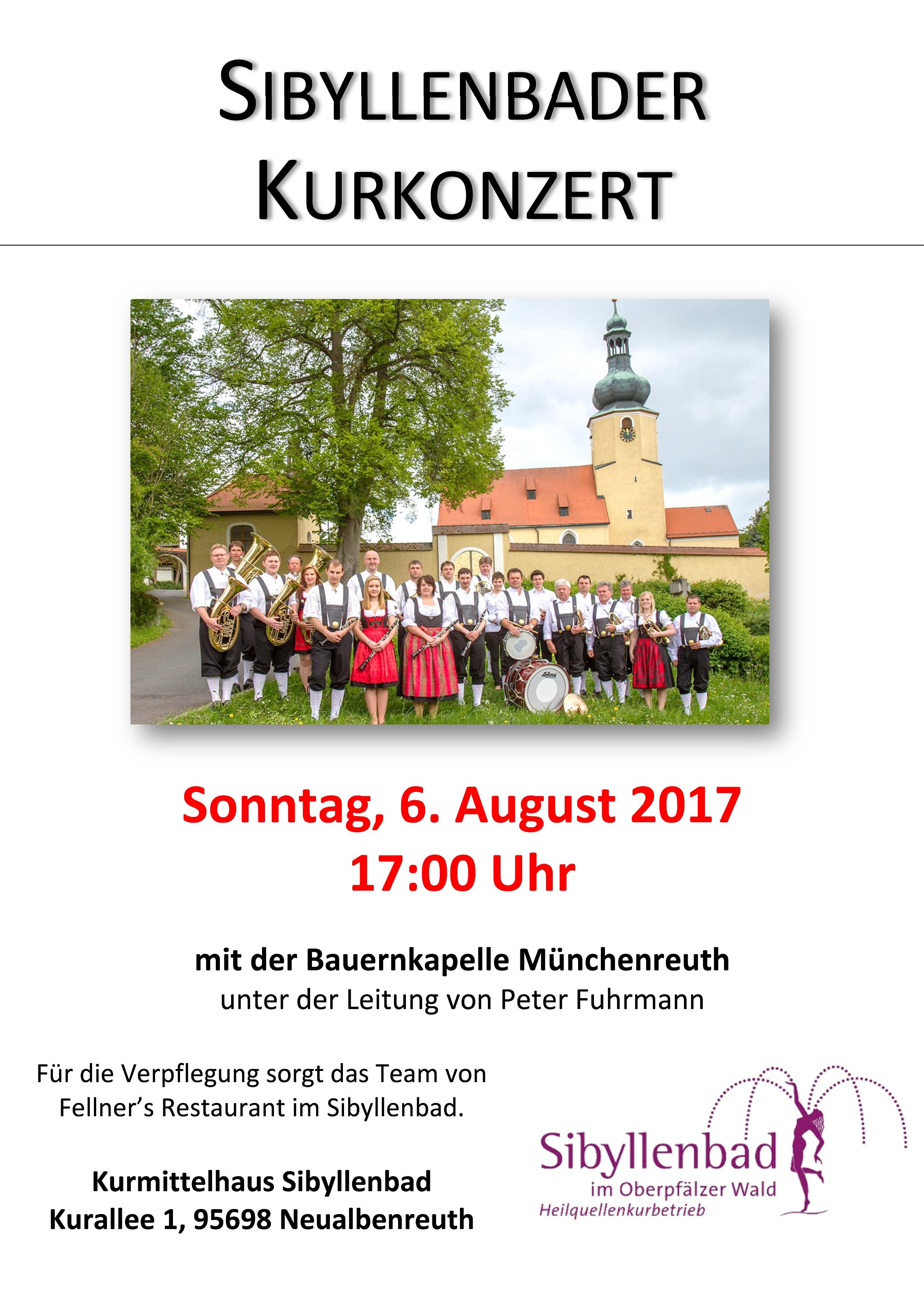 2017-08-06 Kurkonzert Bauernkapelle Münchenreuth