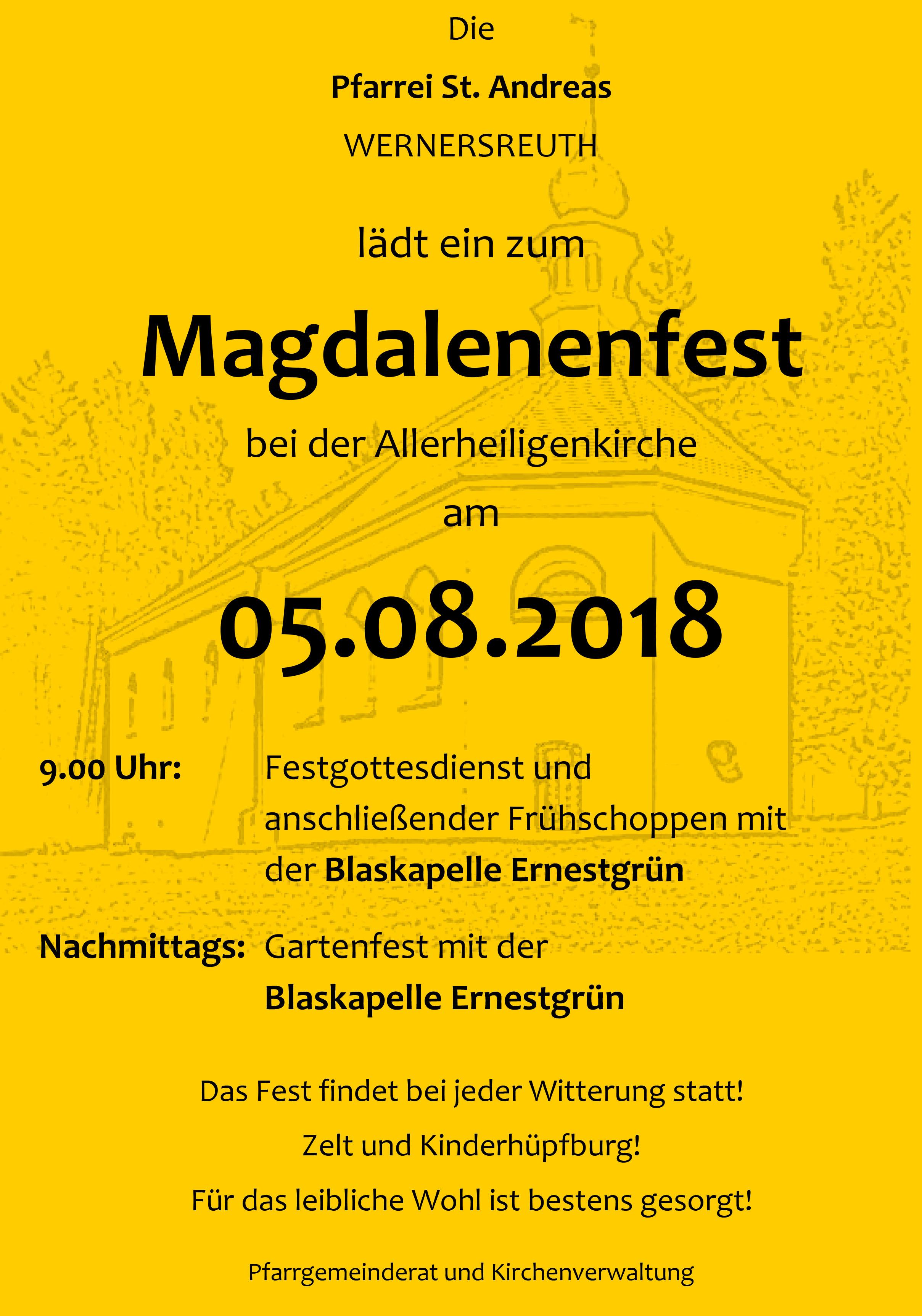 2018-08-05 Magdalenenfest Wernersreuth