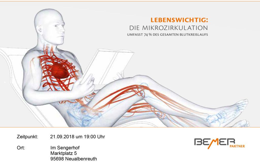 Gesundheitsvortrag Bemer 21.09.2018 im Sengerhof plakat