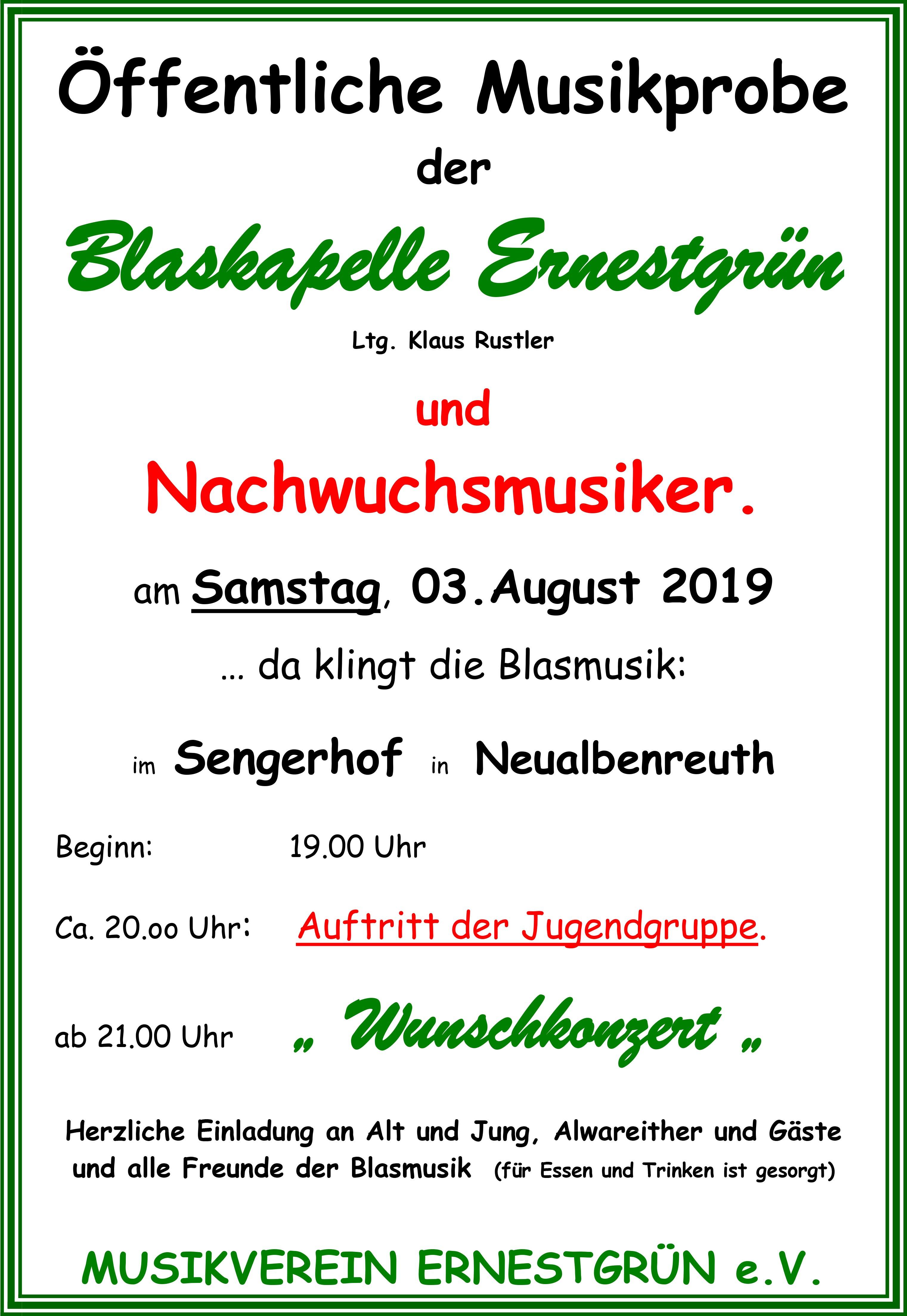 2019-08-03 Öffentliche Musikprobe