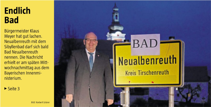 2019-11-14 Titelseite Bad Neualbenreuth