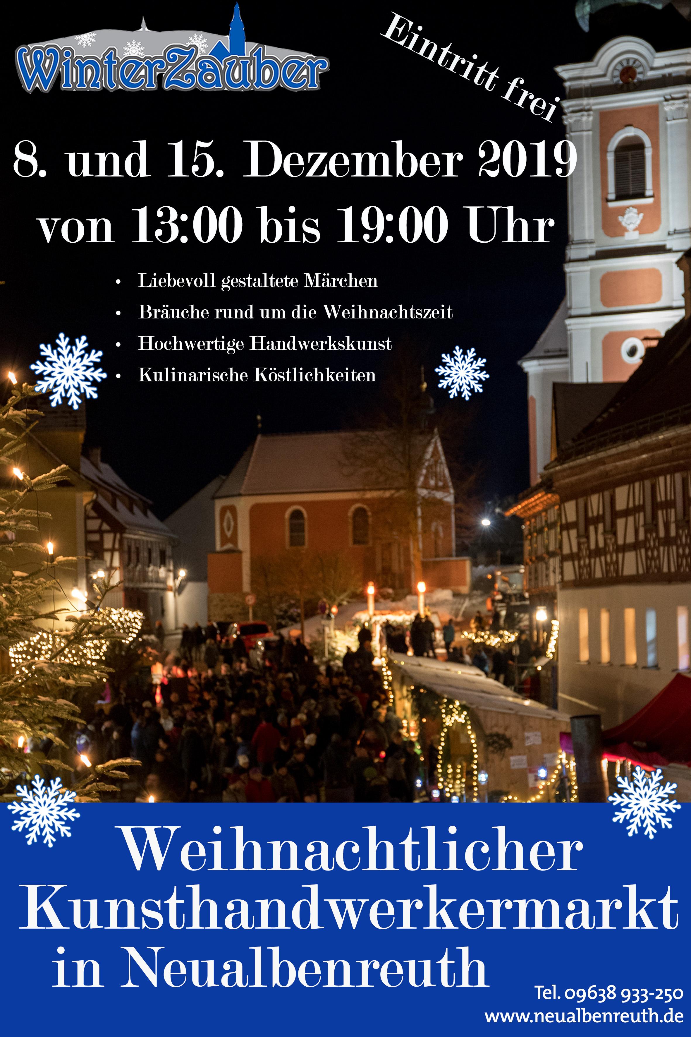 Plakat Weihnachstmarkt 2019