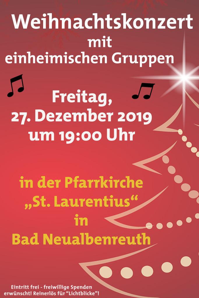 Weihnachtskonzert Plakat neu