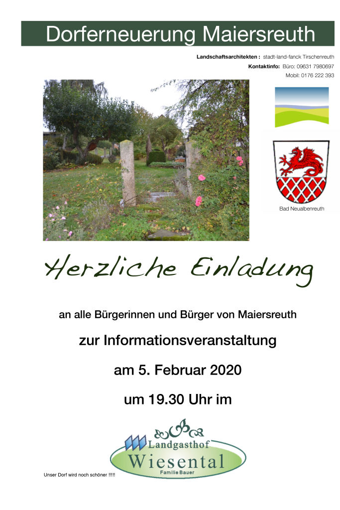 Infoveranstaltung Maiersreuth