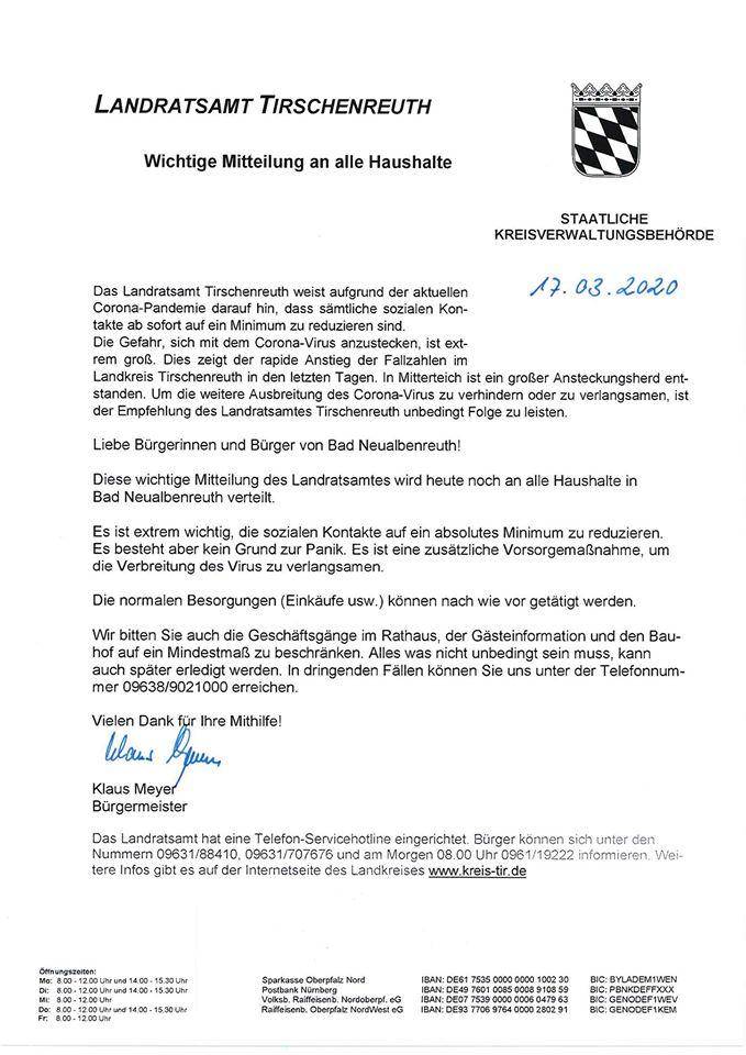 Klaus Statemenet Landratsamt