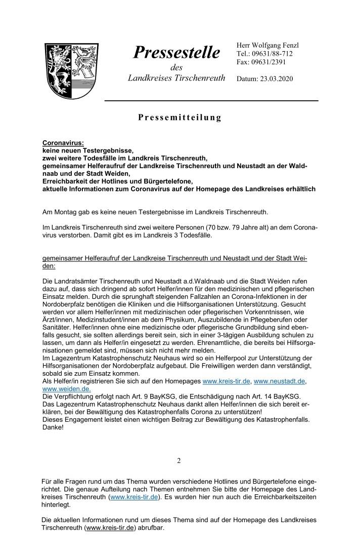 Pressemitteilung Landratsamt