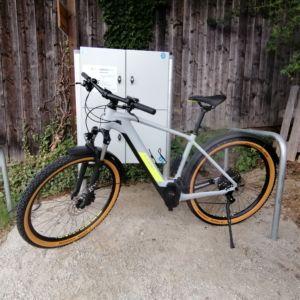 Mountainbike gerade Stange gelb grau